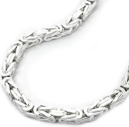 Collier, 5mm Königskette, Silber 925 50cm