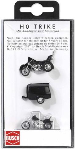 Busch Motorrad mit Trike und Anhänger