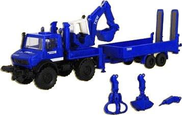 Kibri Unimog mit Aufbaubagger ´´THW´´