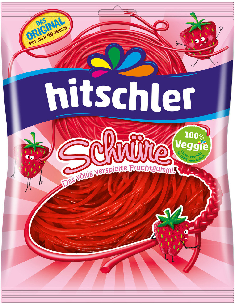 Hitschler Schnüre Erdbeer (125 g)