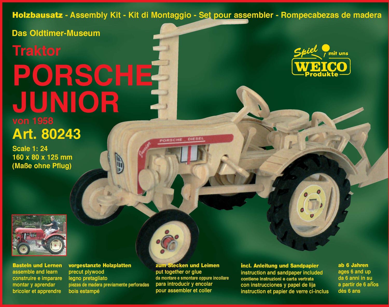 Weico Holzbausatz Das Oldtimer-Museum - Traktor...