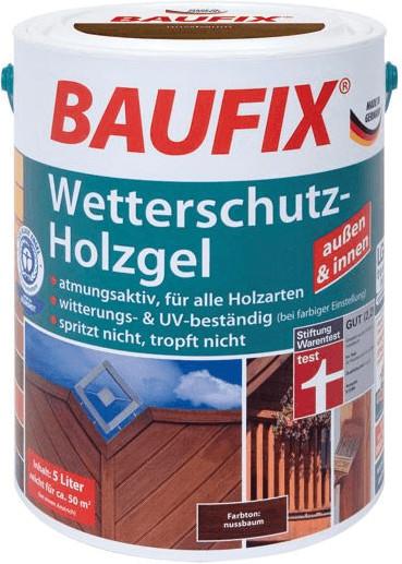 Baufix Wetterschutz-Holzgel 5 l teak