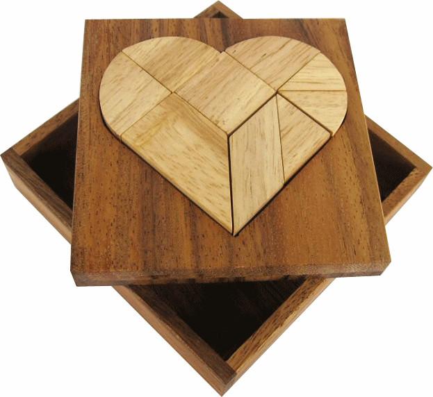 Tangram in Herzform