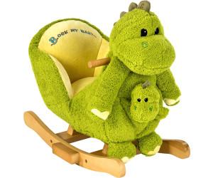 Holzspielzeug Schaukeltier Drache Dino mit Handpuppe