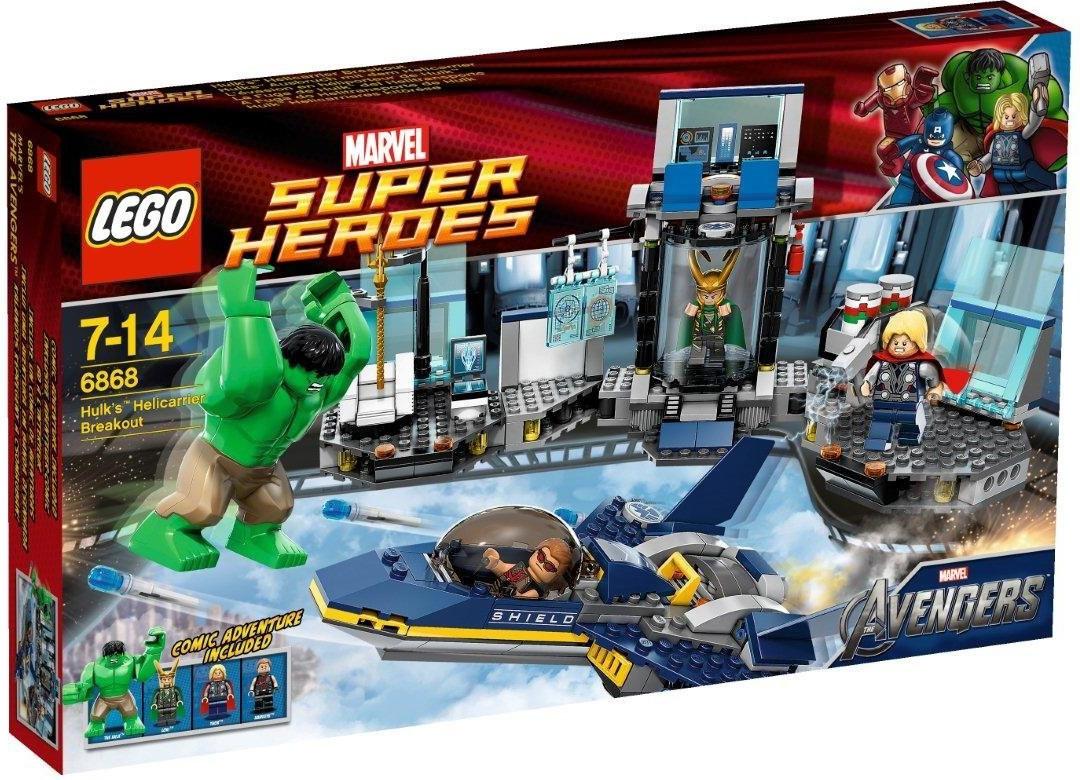 LEGO Marvel Super Heroes - L'évasion en héliporteur de Hulk (6868)