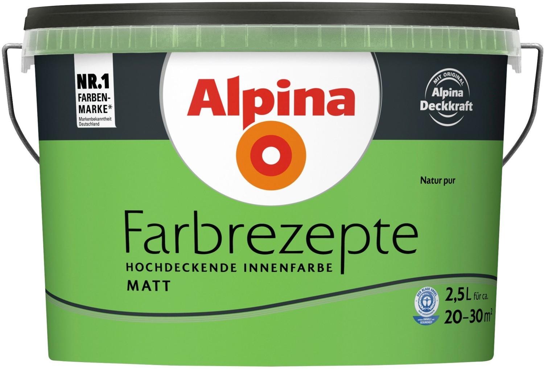 Alpina Farbrezepte 2,5 l Natur Pur