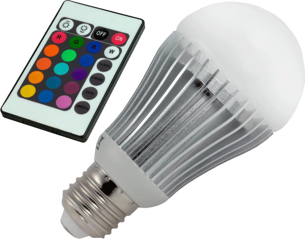 ChiliTec LED 5W E27 RGB Multicolor mit Fernbedi...