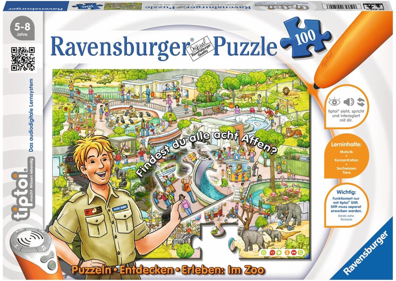 Ravensburger tiptoi - Puzzeln, Entdecken, Erleben: Im Zoo (100 Teile)