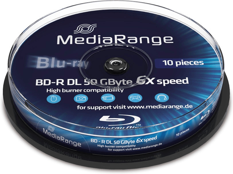 Image of MediaRange BD-R 50Gb DL 6x 10 Cakebox