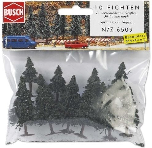 Busch 10 Fichten (6509)