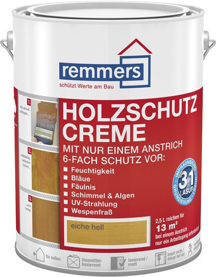 Remmers Holzschutz-Creme 2,5 l Eiche hell