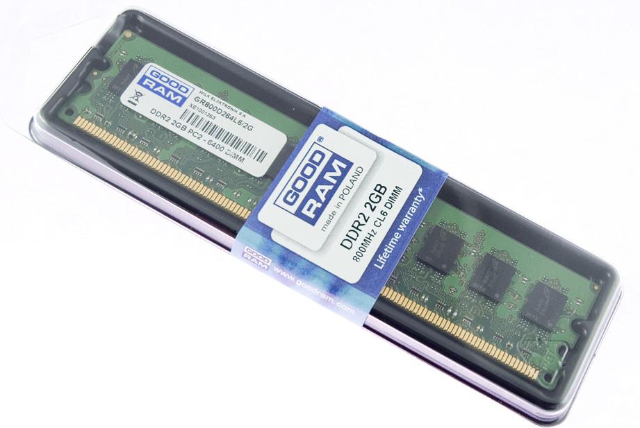 Image of GoodRAM 2GB DDR2 PC2-6400 CL6 (GR800D264L6/2G)