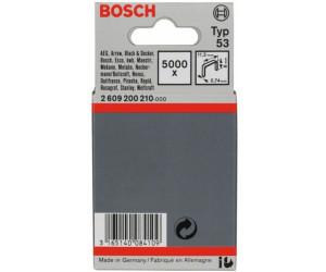 5000 pi/èces Bosch 2609200210 Agrafe /à fil fin de type 53 11,4 x 0,74 x 8 mm