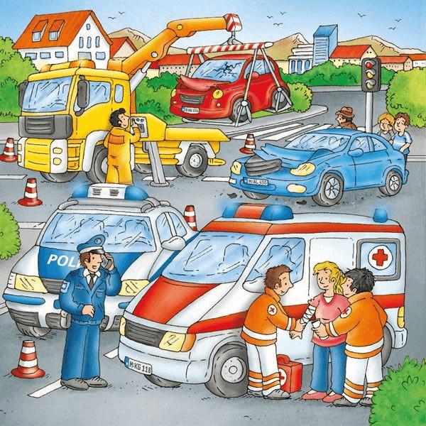Einsatz am Unfallort