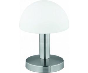 Weiße TOUCH Tischlampe /& Leuchtmittel dimmbar Messing matt mit Glasschirm weiß