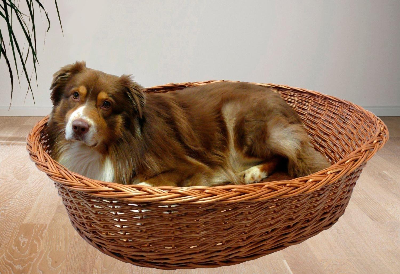 Rohrschneider Hundekorb mit Kissen (107 x 30 x 74 cm)