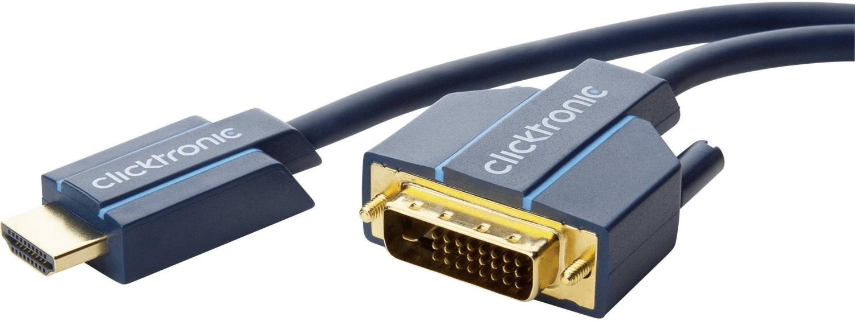 #Clicktronic 70345 Casual HDMI / DVI-Adapterkabel (10,0m)#