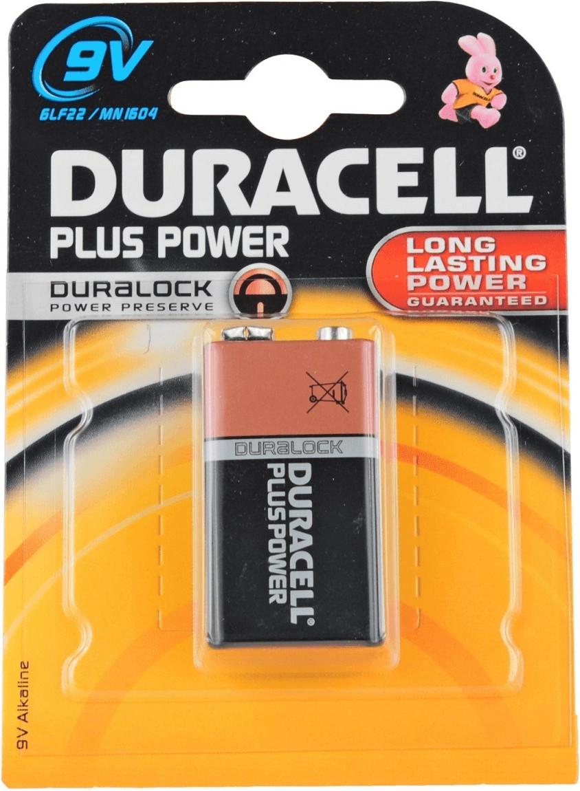 Image of Duracell 1 x 9V Alkaline Plus Power Battery