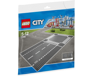 lego city plaques de route ligne droite et carrefour. Black Bedroom Furniture Sets. Home Design Ideas