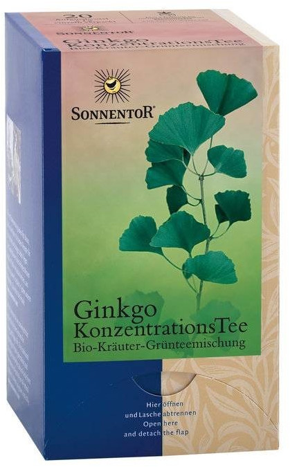 Sonnentor Ginkgo Konzentrations-Tee kbA, Beutel (20 Stk.)