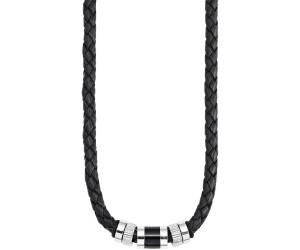 Leder Collier Lederkette schwarz Halskette Kette Herren Damen Necklace 50 cm