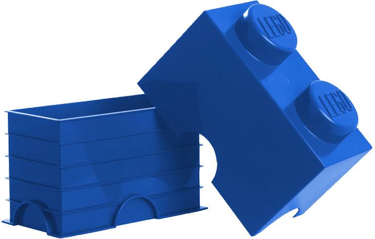 LEGO Aufbewahrungsstein mit 2 Noppen blau