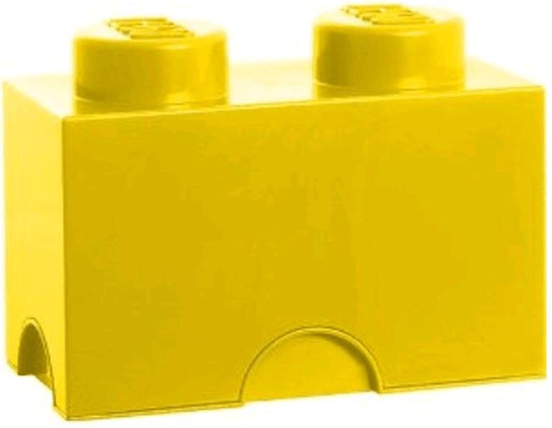 LEGO Aufbewahrungsstein mit 2 Noppen gelb