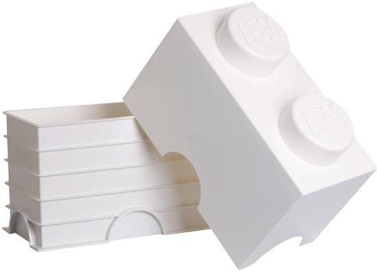 LEGO Aufbewahrungsstein mit 2 Noppen weiß