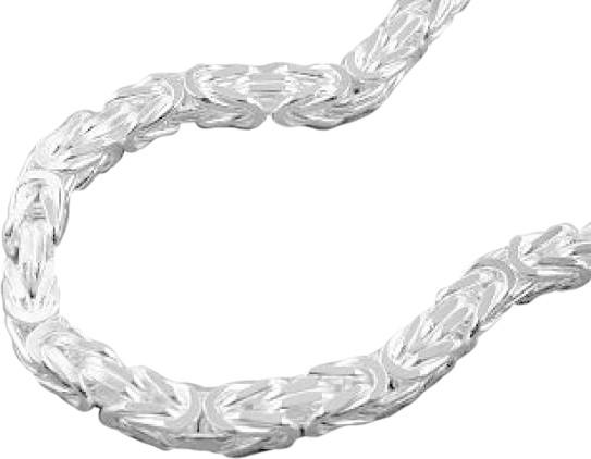 Armband, 6mm Königskette, Silber 925 21cm