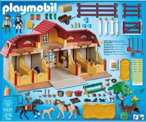 Playmobil haras avec chevaux et enclos 5221 au meilleur - Playmobil haras ...