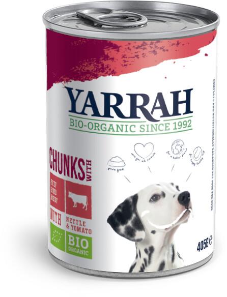 Yarrah Bio-Hundefutter Bröckchen mit Huhn und Rind 405g