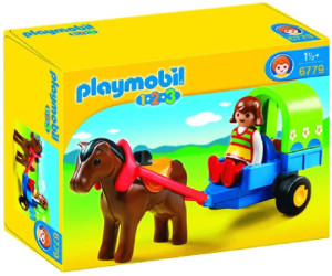 Playmobil 1.2.3 Pony Wagon