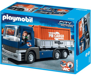 playmobil camion porte conteneurs 5255 au meilleur prix sur. Black Bedroom Furniture Sets. Home Design Ideas