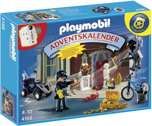 playmobil calendrier de l 39 avent policier et voleur d 39 antiquit s 4168 au meilleur prix sur. Black Bedroom Furniture Sets. Home Design Ideas