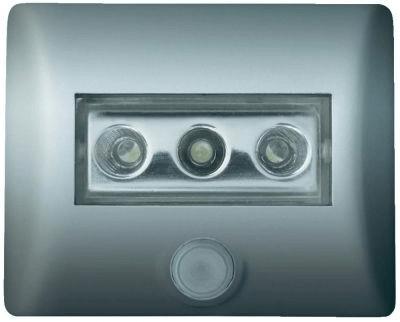 Osram Nachtlicht mit Bewegungsmelder Rechteckig LED Weiß Nightlux 4008321985743 Silber