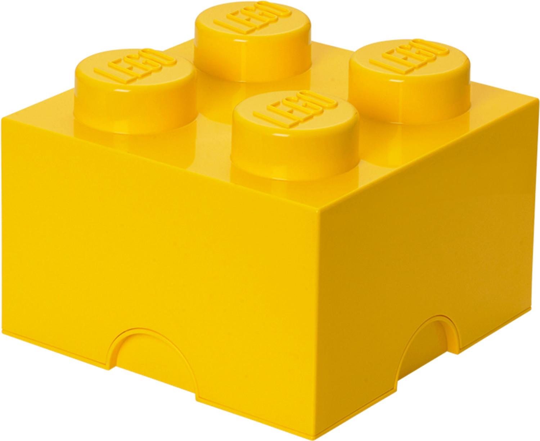 LEGO Aufbewahrungsstein mit 4 Noppen - gelb
