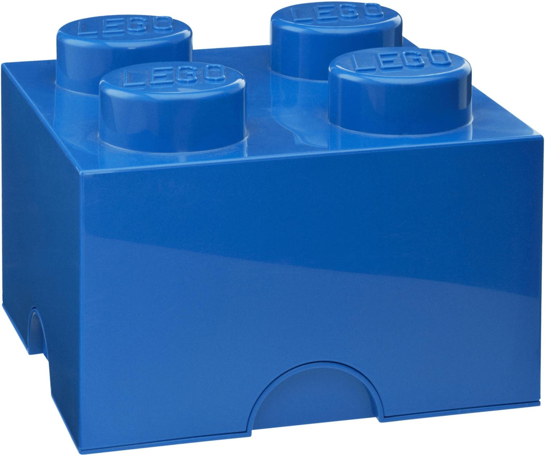 LEGO Aufbewahrungsstein mit 4 Noppen - blau
