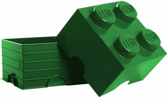 LEGO Aufbewahrungsstein mit 4 Noppen - grün