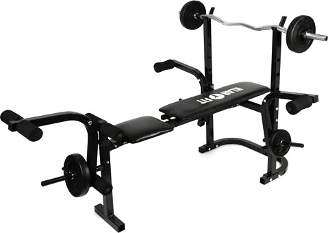 Klarfit Weight Bench with Arm Curl and Leg Curl