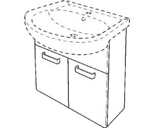 keramag renova nr 1 waschtischunterschrank 55cm ab 250 05 preisvergleich bei. Black Bedroom Furniture Sets. Home Design Ideas