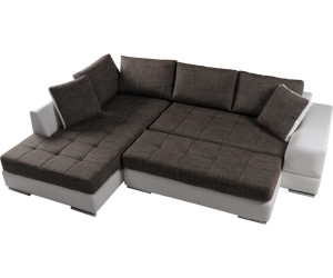 m bel eins hugo sofa ottomane links wei grau wei stoffbezug kunstleder ab 964 95. Black Bedroom Furniture Sets. Home Design Ideas