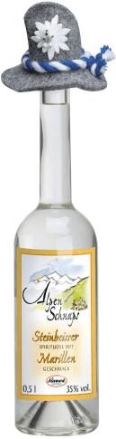 Nannerl Alpenschnaps Steinbeisser Marille 0,5l 35%