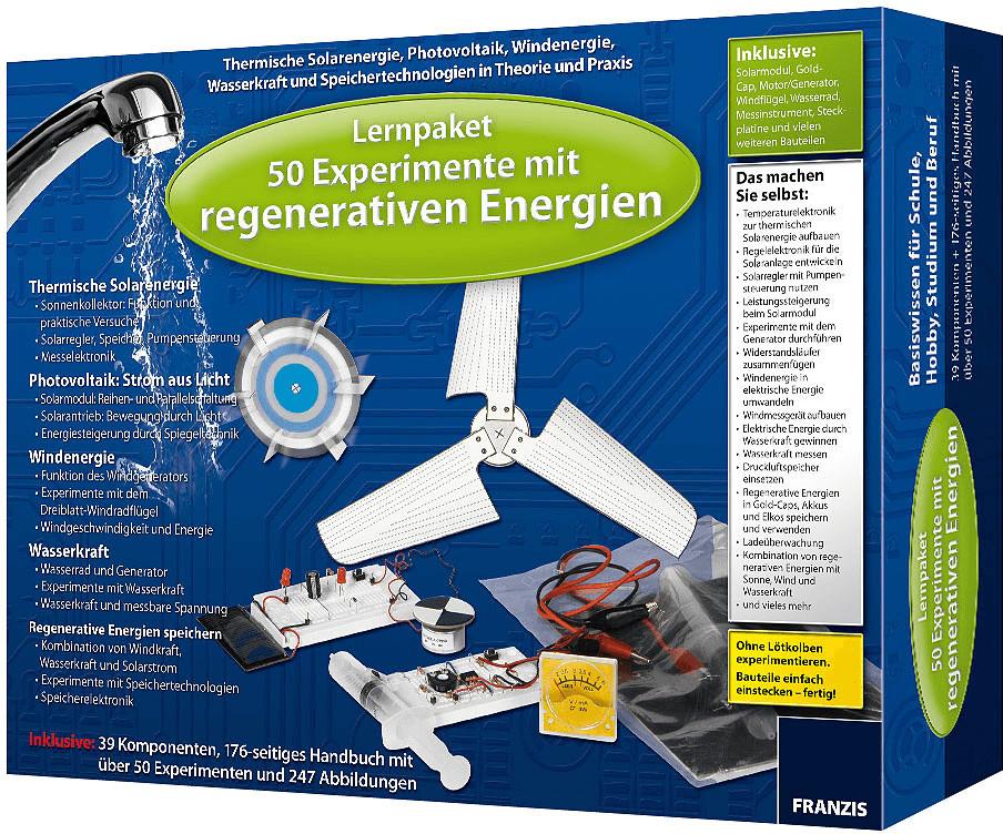 Franzis Lernpaket 50 Experimente mit regenerati...