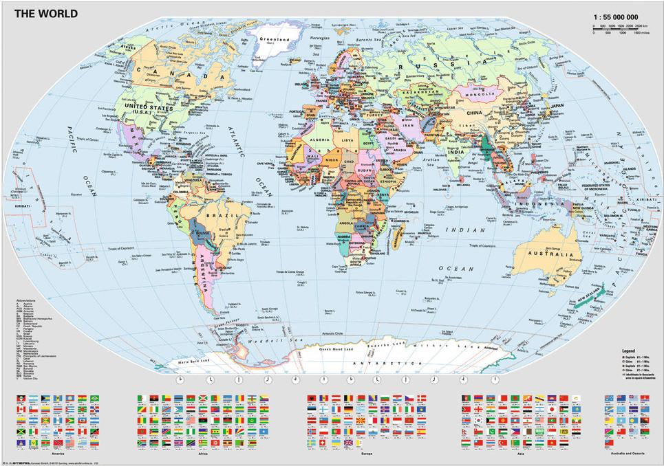RAVENSBURGER 15652 MAPAMUNDI POLITICO Puzzle 1000 Piezas // WORLD MAP PUZZLE