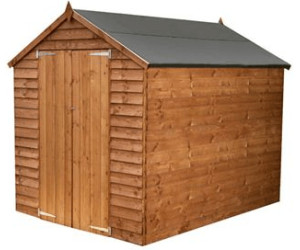 Image of Mercia Mercia 8X6Ft Great Value Overlap Shed Apex With Windows &Amp; Double Doors