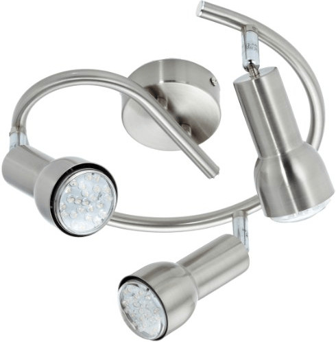 Trio LED-Schnecke Nickel 3-flg. E14 (827590307)