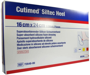 Bsn Medical Cutimed Siltec Heel Für Ferse Steril 16 X 24 Cm 5 Stk