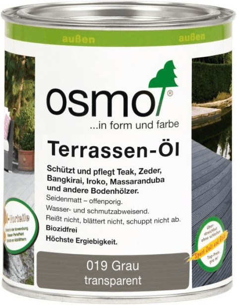 Osmo Terrassen-Öl 019 grau 0,75 l