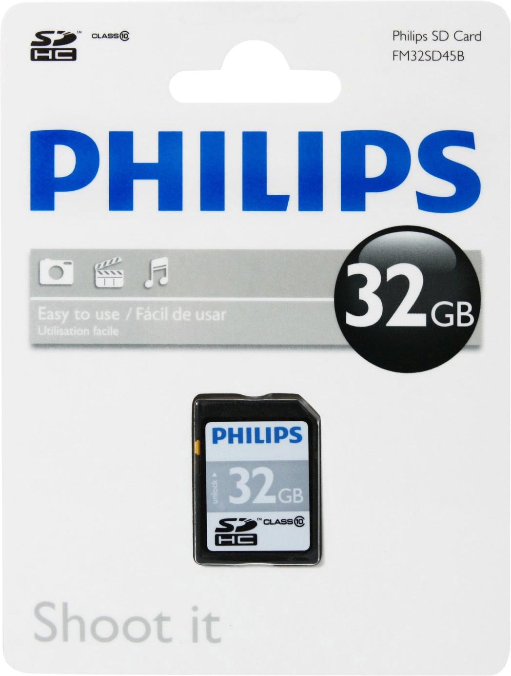 Philips SDHC 32GB Class 10 (FM032SD45B)
