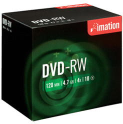 Image of Imation DVD-RW 4,7GB 120min 4x 10pk Jewel Case